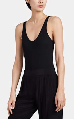 ATM Anthony Thomas Melillo Women's Rib-Knit Tank Bodysuit - Black