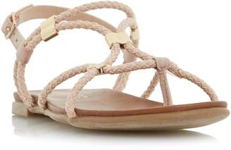 Head Over Heels LAYLEY - Braided Gladiator Flat Sandal