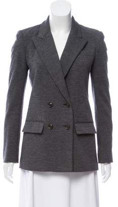 Diane von Furstenberg Wool Double-Breasted Structured Blazer