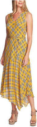 Vince Camuto Sleeveless Plaid Maxi Dress