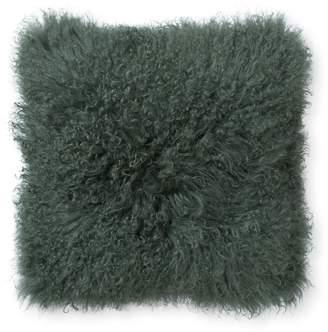 Oliver Bonas Sheepskin Olive Green Cushion