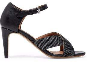 M Missoni Leather And Mesh Sandals