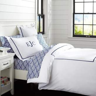 Pottery Barn Teen Pop Dot Duvet Cover, Twin/Twin XL, Royal Navy