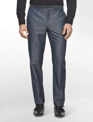 Calvin Klein X Fit Ultra Slim Fit Herringbone Stripe Sharkskin Wool Suit Pants