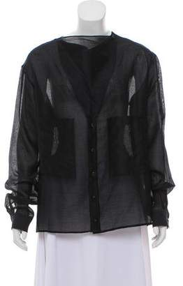 Maiyet Long Sleeve Button-Up Top