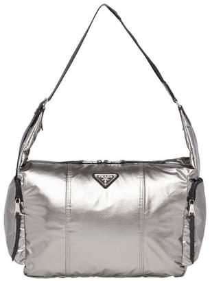 Prada Laminated Fabric Hobo Bag
