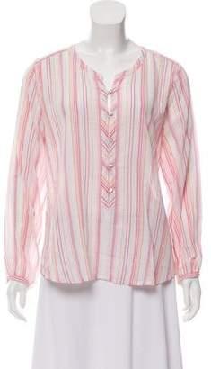 Calypso Striped Button-Up Top