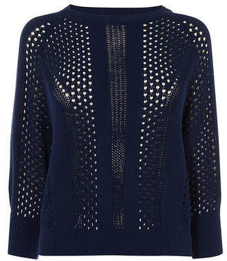 Karen Millen Open-Knit Jumper
