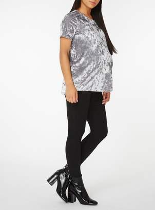 Dorothy Perkins **Maternity Blue and Silver Velvet T-Shirt