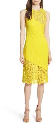 Alice + Olivia Margy Lace Overlay Body-Con Dress