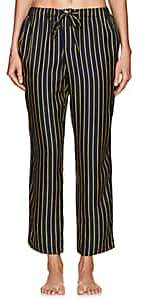 Sleepy Jones Women's Marina Striped Silk Pajama Pants-Navy Str
