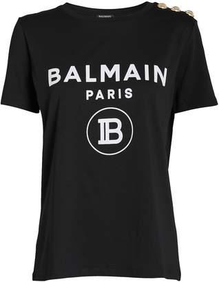 Balmain Logo Coin Jersey T-Shirt