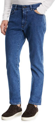 Ermenegildo Zegna Straight-Leg Stretch-Denim Jeans