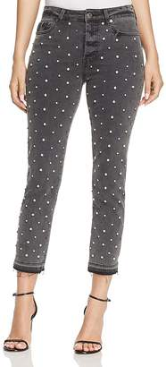 Pistola Charlie Rhinestone Embellished Skinny Jeans in Diamond Dust - 100% Exclusive