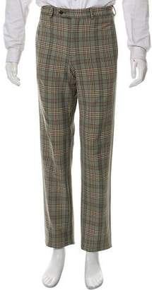 Prada Glen Plaid Flat Front Dress Pants