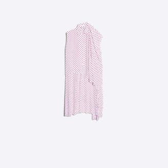 Balenciaga Polkadot print silk asymmetrical twinset dress