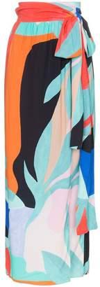 Mara Hoffman Cora belted wrap midi skirt