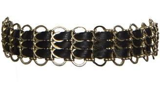 Ettika Triple Trouble Maker and Gold Tone Woven Choker Necklace