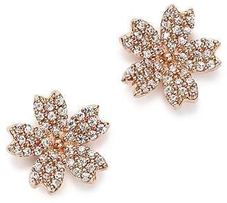 Bloomingdale's Diamond Flower Small Stud Earrings in 14K Rose Gold, 0.25 ct. t.w. - 100% Exclusive