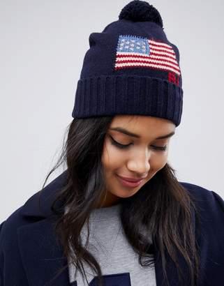 Polo Ralph Lauren flag bobble hat