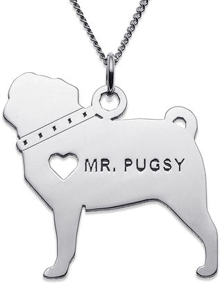 FINE JEWELRY Personalized Pug Sterling Silver Pendant Necklace $99.99 thestylecure.com