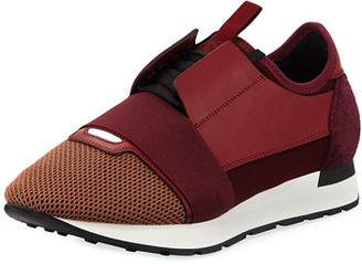 Balenciaga Men's Race Runner Mesh & Leather Sneaker $695 thestylecure.com