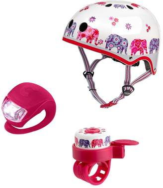 Micro Scooter Elephant Helmet, Bell & Light Safety Set