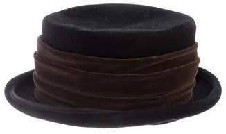 Eric Javits Wool Velvet Trim Hat