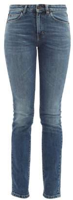 Saint Laurent Mid Rise Skinny Jeans - Womens - Denim