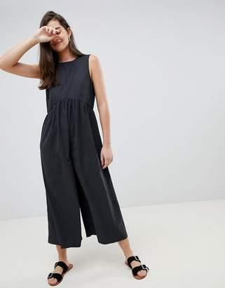 Asos Design DESIGN minimal jumpsuit with ruching detail
