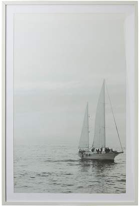 Amalfi by Rangoni Sailing Framed Canvas Print (Set of 2)