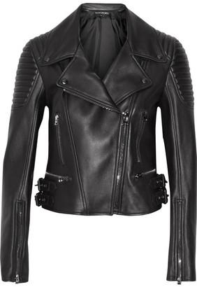 TOM FORD - Leather Biker Jacket - Black $4,950 thestylecure.com