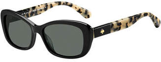 Kate Spade Claretta Two-Tone Oval Sunglasses