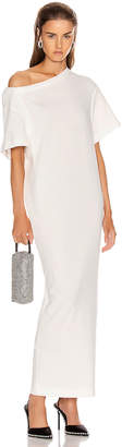 Alexander Wang Twisted Shoulder T Shirt Dress in White | FWRD