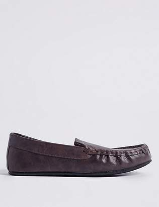 Marks and Spencer Moccasin Slippers with ThinsulateTM