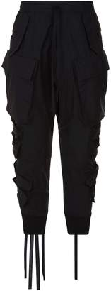 Unravel Dropped Crotch Cargo Trousers