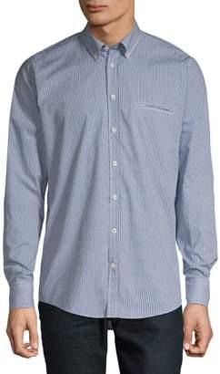 Bugatti Long Sleeve Button-Down Printed Shirt