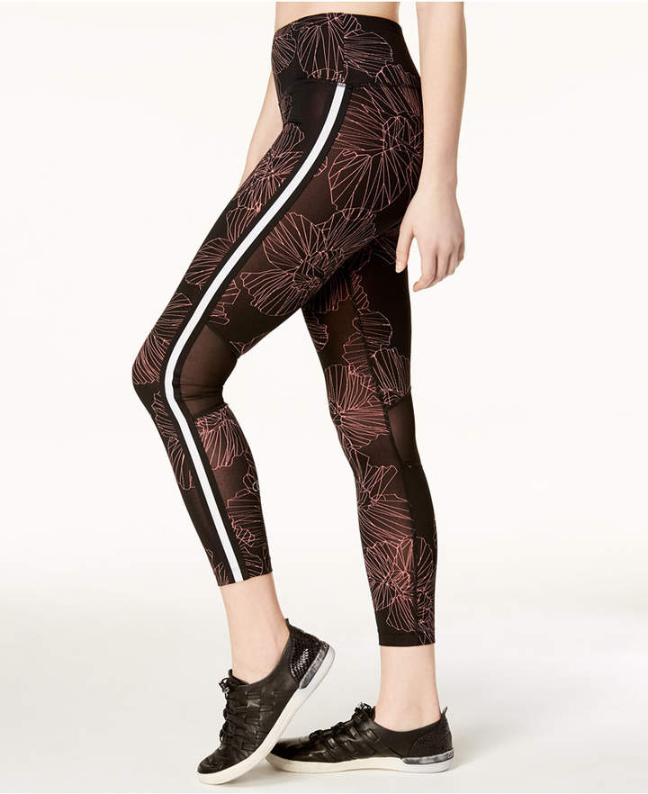 Border Bloom High-Rise Ankle Leggings