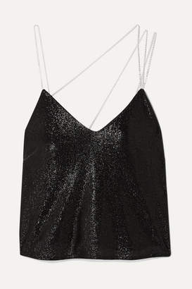 Mason by Michelle Mason Crystal-embellished Lurex Camisole - Black