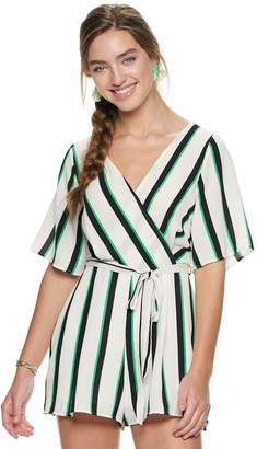 Trixxi Juniors' Surplice Romper