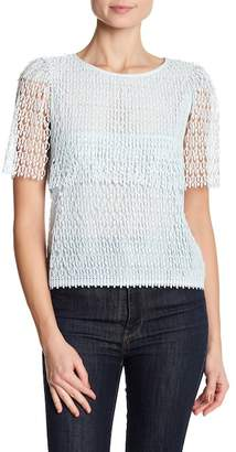 Club Monaco Keavy Short Sleeve Knit Blouse