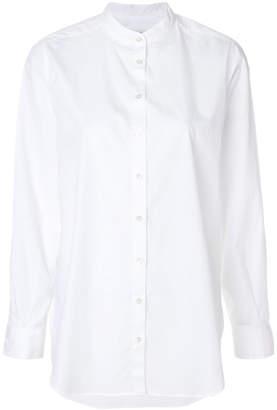 Closed band collar shirt