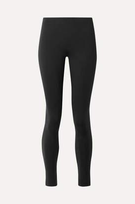 The Row Helda Stretch-scuba Leggings - Black