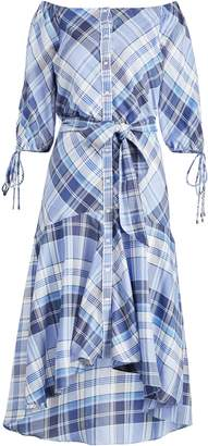 Lauren Ralph Lauren Ralph Lauren Plaid Off-the-Shoulder Dress