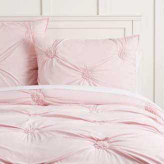 Pottery Barn Teen Ruched Rosette Quilt, Twin/Twin XL, Blush
