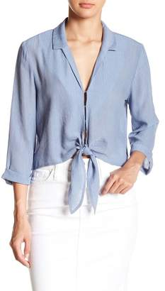 June & Hudson Front Tie Blouse