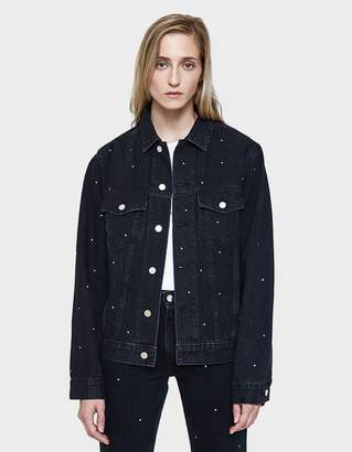 Need Denim Jacket in Broken Black with Rhinestones