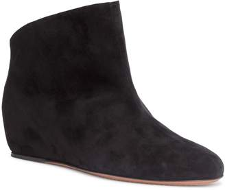 Alaia Chamois 30 black suede wedge boots