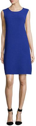 Armani Collezioni Round-Neck Pyramid Knit Shift Dress, Purple $995 thestylecure.com