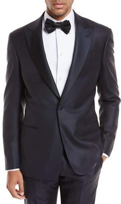 Giorgio Armani Peak-Lapel Jacquard Slim Tuxedo